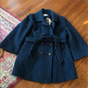 laundry by shelli segal teal wool blend pea coat